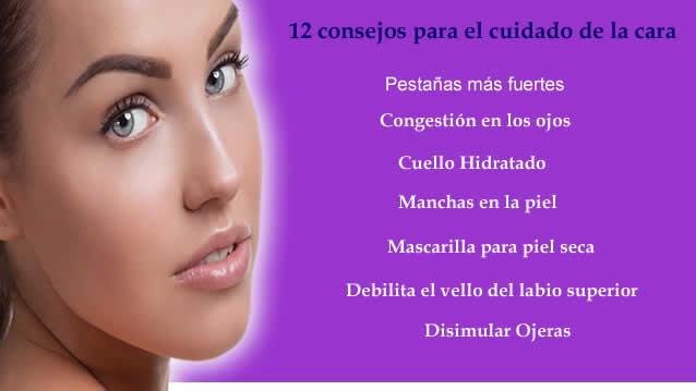 12 consejos para el cuidado de la cara