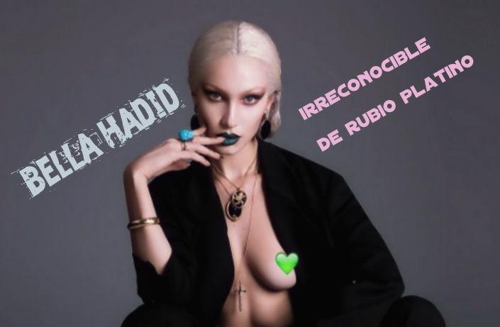 Bella Hadid irreconocible de rubio platino