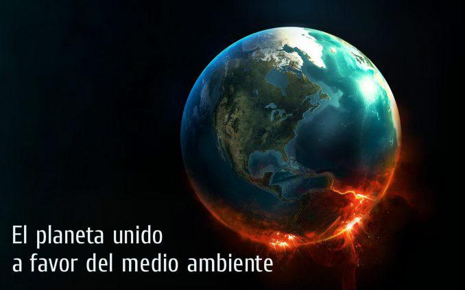 El planeta unido a favor del medio ambiente