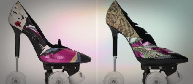 Los creativos nuevos zapatos de Yves Saint Laurent