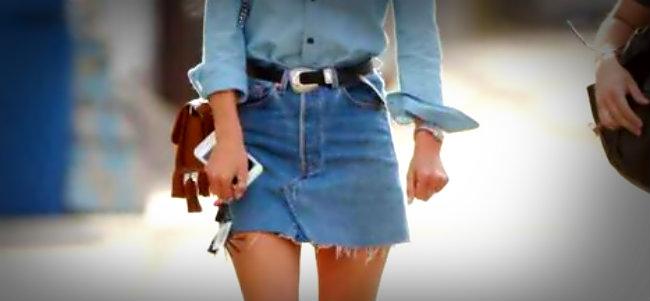 Ideas como lucir falda vaquera